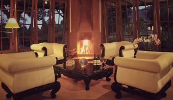 handara Chalet Suite Fireplace