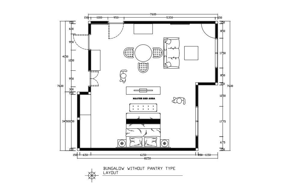 bungalow without pantry layout