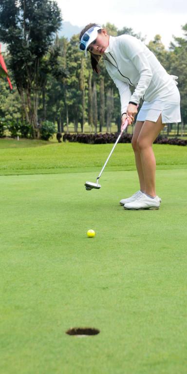 Handara Golf & Resort Bali has very nice greens to play golf on