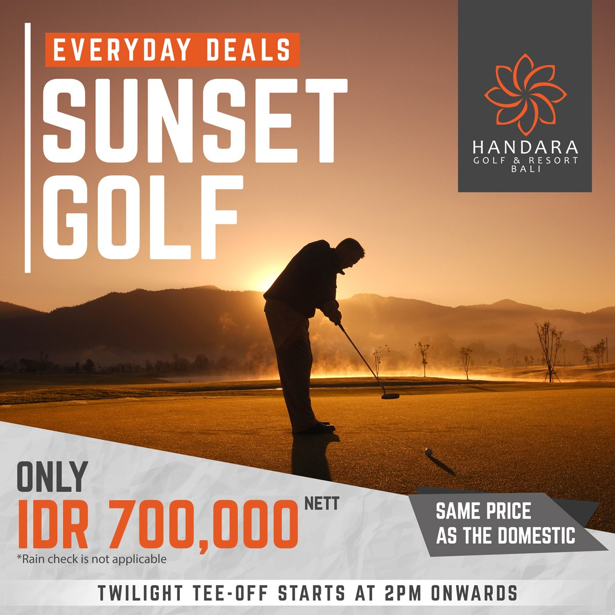 Sunset Golf All Year Deal