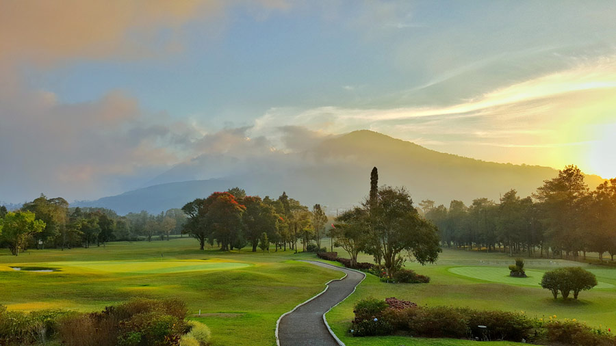 Bali golf getaway experience from resort view