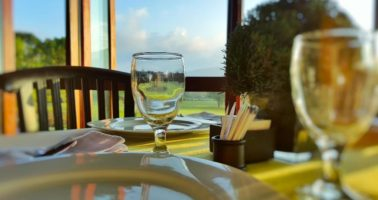 Embrace the Crisp Mountain Air and the Spectacular Nature View of Handara Golf & Resort Bali at Kamandalu Restaurant Bedugul
